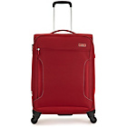 more details on Antler Cyberlite Soft 4 Wheel Expandable Medium Suitcase Red