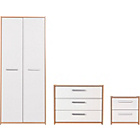 more details on New Sywell 3 Piece 2 Door Wardrobe Package-Oak Effect/White.
