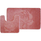 more details on Rose 2 Piece Bath Set - Pink.