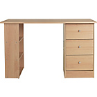 more details on New Malibu 3 Drawer Dressing Table - Beech Effect.