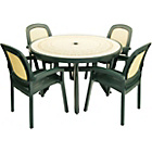 more details on Nardi Toscana Table with 4 Beta Chairs - Forest Green.