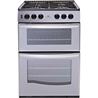 more details on New World NWG55TT 55cm Gas Cooker - Silver/Ins/Del/Rec.