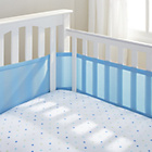 more details on BreathableBaby 4 Sided Cot Liner - Blue Mist.