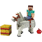 more details on Minecraft Steve with Chestnut Horse Figure.