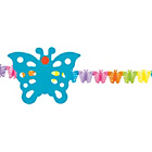 more details on Paper Butterfly 4 Metre Garland - Pack of 2.