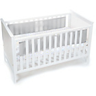 more details on BreathableBaby Mesh Liner for Solid End Cots - Grey Mist.