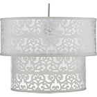 more details on Heart of House Lara Laser Cut Tiered Shade - Ivory.