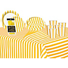 more details on Decorative Stripes Party Kit - Sunflower Yellow.