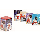 more details on Paper House Snowman Christmas Kids Cube Cards.