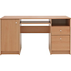 more details on Malibu Double Pedestal Desk with Filer - Beech Effect.