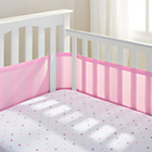 more details on BreathableBaby 4 Sided Cot Liner - Pink Mist.