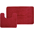 more details on Greek Key 2 Piece Bath Set - Red.