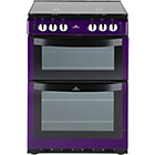 more details on New World NW601GDOL Double Gas Cooker - Purple.