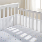 more details on BreathableBaby 4 Sided Cot Liner - White Mist.