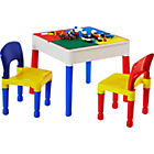 more details on 3 in 1 Table and Chairs Writing/Lego Top/Sand/Water/Storage.