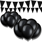 more details on Giant Bunting and Balloon Set - Black.