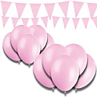 more details on Giant Bunting and Balloon Set - Pink.