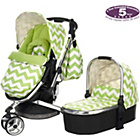 more details on Obaby Chase 3 in 1 Pram and Pushchair - ZigZag Lime.