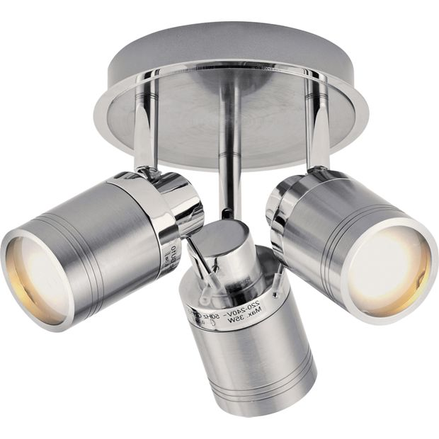 Chrome Garden Wall Lights : Buy Collection Livorno 3 Light Bathroom Spotlight - Chrome at Argos.co.uk - Your Online Shop for ...