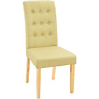 more details on Rimini Pair of Green Fabric Dining Chairs.