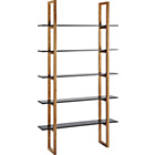 more details on Habitat Loki 5 Shelf Bookcase - Black.