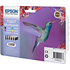 more details on Epson T0807 Hummingbird Standard Ink Cartridge - Pack of 6.
