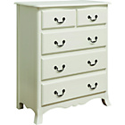 more details on Chantilly 5 Drawer Chest of Drawers - White.
