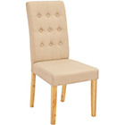 more details on Rimini Pair of Beige Fabric Dining Chairs.