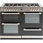 more details on Belling DB4110DF Double Dual Fuel Range Cooker - S/Steel.