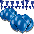 more details on Giant Bunting and Balloon Set - Blue.