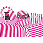 more details on Decorative Stripes Party Kit - Hot Pink.
