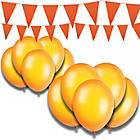 more details on Giant Bunting and Balloon Set - Orange.