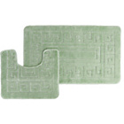 more details on Greek Key 2 Piece Bath Set - Green.