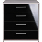 more details on Kids' New Sywell 4 Drawer Chest - White & Black Gloss.