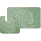 more details on Rose 2 Piece Bath Set - Green.