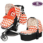 more details on Obaby Chase 3 in 1 Pram and Pushchair - ZigZag Orange.
