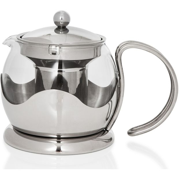 buy sabichi 750ml glass teapot with infuser at. Black Bedroom Furniture Sets. Home Design Ideas