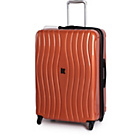 more details on IT Luggage Waves Medium 4 Wheel Expandable Suitcase - Copper