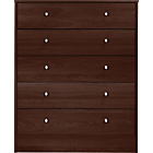 more details on New Malibu 5 Drawer Wide Chest - Wenge Effect.
