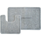 more details on Greek Key 2 Piece Bath Set - Grey.