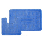 more details on Greek Key 2 Piece Bath Set - Blue.