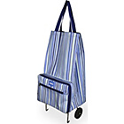 more details on Sabichi Blue Stripe Shopping Bag with Wheels.