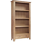more details on Harvey Ready Assembled Large Bookcase - Oak.