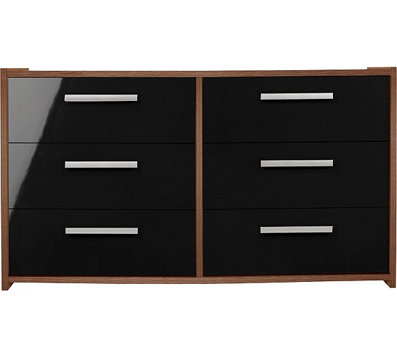 Home New Sywell 3 Drawer Chest Walnut Effectblack Gloss  Delightful Sywell  Bedroom Furniture. Sywell Bedroom Furniture   Bedroom Style Ideas