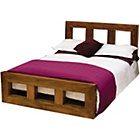 more details on Bengal Double Bed Frame - Dark Wood.