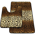 more details on Memory Foam Leopard Print 2 Piece Bath Set - Brown.