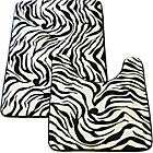 more details on Memory Foam Zebra 2 Piece Bath Set - Multicoloured.