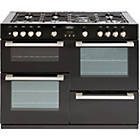 more details on Belling DB4110G Double Gas Range Cooker - Black/Ins/Del/Rec