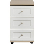 more details on Arianna Slim 3 Drawer Bedside Table - White.