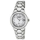 more details on Citizen Ladies' Eco-Drive Silver Tone Bracelet Watch.
